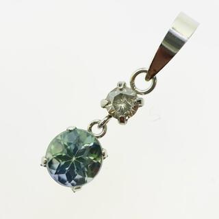 PT900 ペンダントトップ ダイヤモンド ゾイサイト AANI アニ(ネックレス)