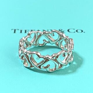 Tiffany & Co. - ティファニー ラビングハート オープン リング 指輪 14号 スターリング925
