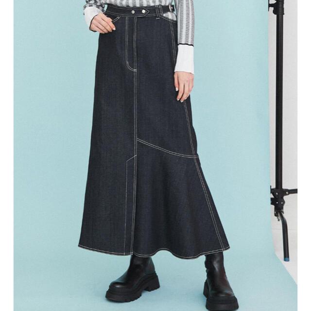 STUDIOUS(ステュディオス)の【新品タグ付】イネラ アシメカットロングスカート レディースのスカート(ロングスカート)の商品写真