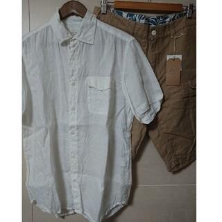 インメルカート(inmercanto)のインメルカート リネンシャツ  & ベイカーショートパンツ  セット販売(シャツ)