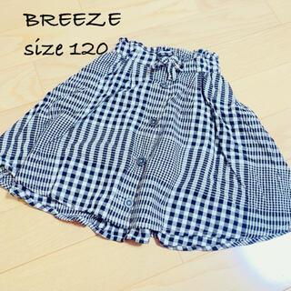 美品♡BREEZE 120 ギンガムチェック スカート