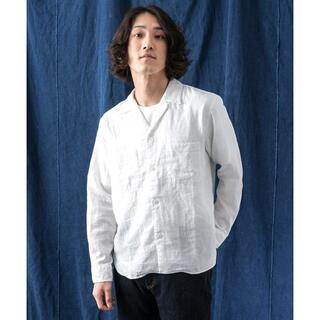 アーバンリサーチ(URBAN RESEARCH)の新品 WORK NOT WORK ダブルガーゼオープンカラーシャツ 白(シャツ)