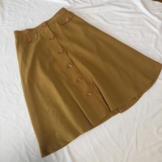 アメリヴィンテージ(Ameri VINTAGE)のアメリヴィンテージ 膝丈 前ボタン フレアスカート(ひざ丈スカート)