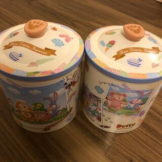ダッフィー(ダッフィー)のダッフィー クランチ缶2個セット(キャラクターグッズ)