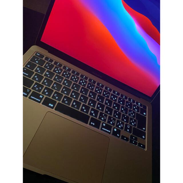 Mac (Apple)(マック)の【最終値下げ】MacBook Air 2020 M1チップ搭載 スマホ/家電/カメラのPC/タブレット(ノートPC)の商品写真