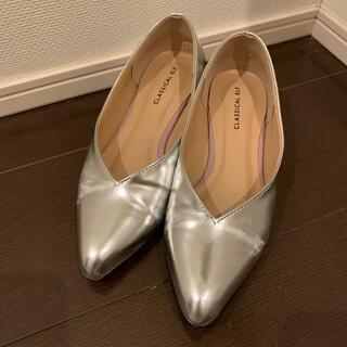 レインパンプス/レインシューズ/晴雨兼用/シルバー/22.5cm(長靴/レインシューズ)