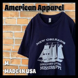 アメリカンアパレル(American Apparel)の【American Apparel】Tシャツ M USA製 アメリカ古着(Tシャツ/カットソー(半袖/袖なし))