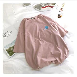 ディーホリック(dholic)の☆新品未使用☆ 韓国通販 刺繍Tシャツ ピンク(Tシャツ(半袖/袖なし))