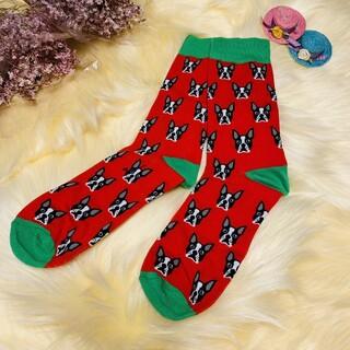 靴下 ボストンテリア イヌ アニマルシリーズ プレゼントやお揃いでも!ソックス