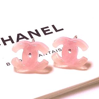 CHANEL - ピアス  ロジウム金具  ベビーピンク