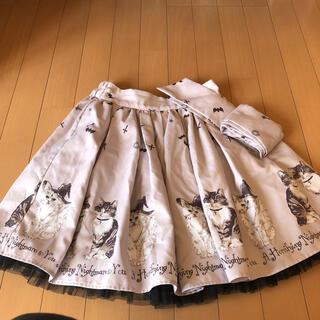 アンクルージュ(Ank Rouge)のアンクルージュ ネコ スカート(ひざ丈スカート)