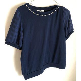 ハニーズ(HONEYS)のhoneys 青シャツ(半袖)(Tシャツ(半袖/袖なし))