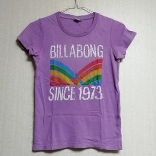 ビラボン(billabong)の【BILLABONG/ビラボン】Tシャツ/コットン/半袖/パープル/M/夏/紫(Tシャツ(半袖/袖なし))