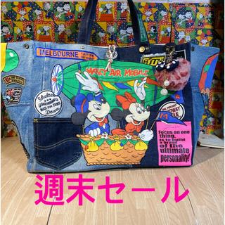 ミッキーマウス(ミッキーマウス)の☆ハンドメイド☆ボックストート☆ミッキー☆(バッグ)