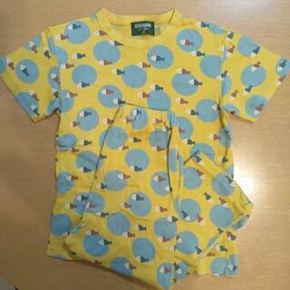 ワコール(Wacoal)のワコール キッズ アツコマタノ パジャマ 120cm 男女 黄色(パジャマ)