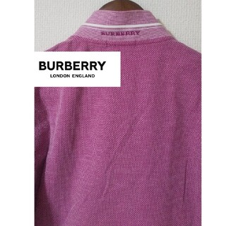 BURBERRY - BURBERRY 新品鹿の子素材半袖ポロシャツ 男女兼用
