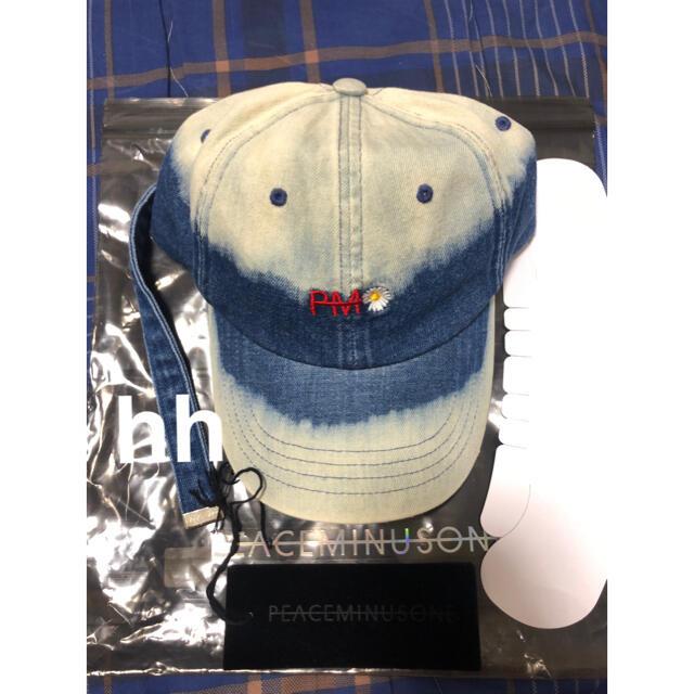 PEACEMINUSONE(ピースマイナスワン)のPEACEMINUSONE PMOデニムブリーチキャップ メンズの帽子(キャップ)の商品写真