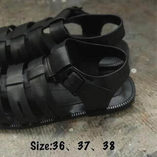 TODAYFUL - Todayful Leather Belt Sandals 黒