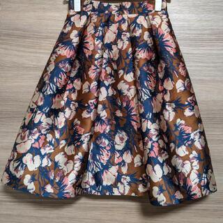 アナイ(ANAYI)のANAYI フラワープリントスカート.(ひざ丈スカート)