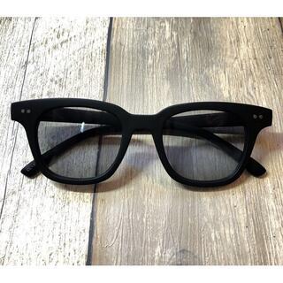 マットブラック/ライトグレー ウェリントン サングラス ボストン 眼鏡