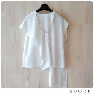 ADORE - ◆幻◆ 春夏新品 ADORE 定価2.8万円 アシンメトリージョーゼットブラウス