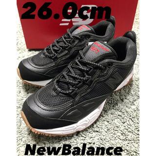 ニューバランス(New Balance)の【新品】ML801 ブラック 26.0cm キャンプ ランニング(スニーカー)