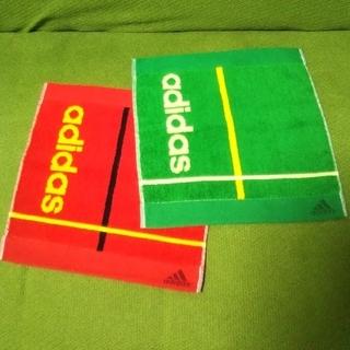 アディダス(adidas)のadidas タオルハンカチ2点セット C(ハンカチ/ポケットチーフ)