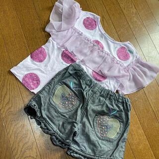 アナスイミニ(ANNA SUI mini)のアナスイミニ 130 りんご セット Tシャツ パンツ(Tシャツ/カットソー)