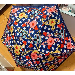 Vivienne Westwood - ヴィヴィアンウエストウッド 軽量折り畳み傘 美品/青チェック
