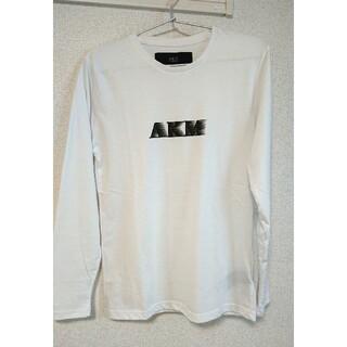 エイケイエム(AKM)の【美品】AKM ロングTシャツ AST-733-N 白 ホワイト(Tシャツ/カットソー(七分/長袖))