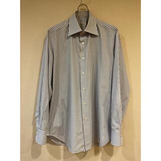 フィナモレ(FINAMORE)のフィナモレ ドレスシャツ 首42 着心地最高 やや難 襟すれダメージ等(シャツ)