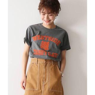 スピックアンドスパン(Spick and Span)のスピック& スパン MIXTA Tシャツ TABBY CAT 黒/ spick(Tシャツ(半袖/袖なし))