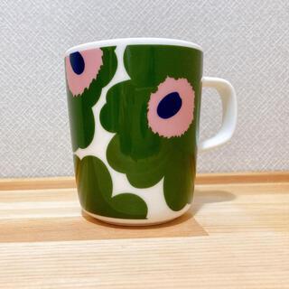 marimekko - マリメッコ ウニッコ 10周年記念 グリーン ピンクマグカップ