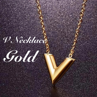 レディース メンズ  ネックレス V字  ゴールド 韓国ファッション ペア