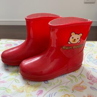 長靴 赤 14センチ(長靴/レインシューズ)