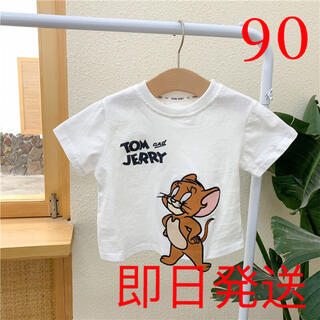 KUEA053Tシャツ トップス 子供服 綿 キッズ 刺繍 半袖 夏 ゆったり