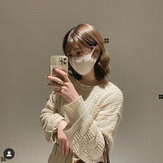 fika 編みトップス メッシュトップス(シャツ/ブラウス(長袖/七分))