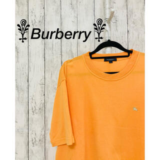 バーバリー(BURBERRY)の【美品】Burberry Tシャツ 半袖シャツ オレンジ 夏服 メンズ(Tシャツ/カットソー(半袖/袖なし))