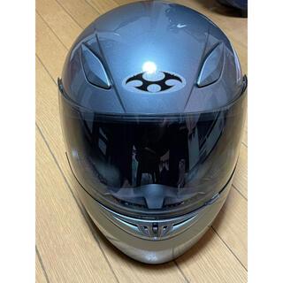 オージーケー(OGK)のOGK kabuto フルフェイスヘルメット (FF_R3) グレー Mサイズ(ヘルメット/シールド)