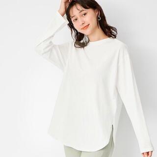 ジーユー(GU)のGU ラウンドヘムロングスリーブTシャツ(Tシャツ(長袖/七分))