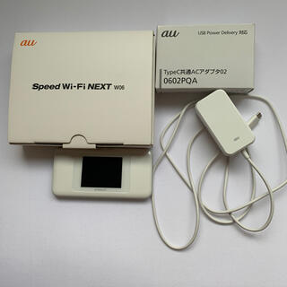 エーユー(au)のポケットWi-Fi&高速充電器セット(その他)