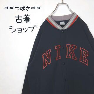ナイキ(NIKE)の【大人気‼︎】NIKE でかろご 古着 スタジャン スナップボタン 古着男子 L(スタジャン)