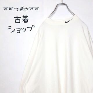 ナイキ(NIKE)の【USA製】【白タグ】NIKE ボトルネック 古着 刺繍 レイヤード ゆるだぼ(Tシャツ/カットソー(七分/長袖))