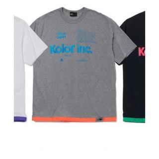 kolor - kolor ドローストリングヘム Tシャツ 20ss サイズ1 グレー