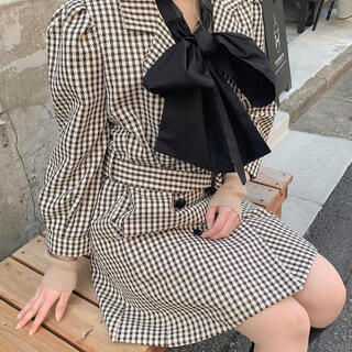 ザラ(ZARA)の【Restock】 Check french jacket.(テーラードジャケット)