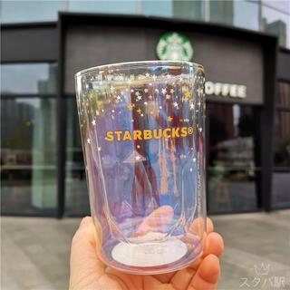 Starbucks Coffee - 【スターバックス海外限定】日本未発売 オーロラシリーズ ダブルウォール ガラス