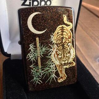 ジッポー(ZIPPO)の新品 Zippo 虎 梨地 本金蒔絵 和柄 ジッポー(タバコグッズ)