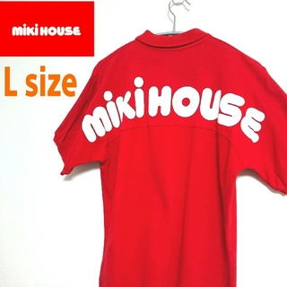 mikihouse - mikihouse ミキハウス VINTAGE  赤 ビッグロゴ  ポロシャツ