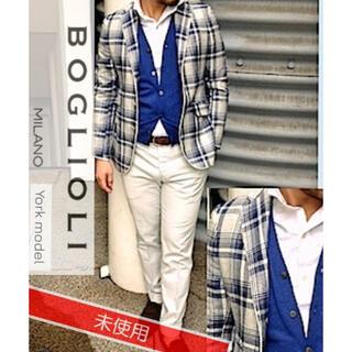 ボリオリ(BOGLIOLI)の14.8万↑Boglioli YORK/silk100%/タータンチェック/48(テーラードジャケット)