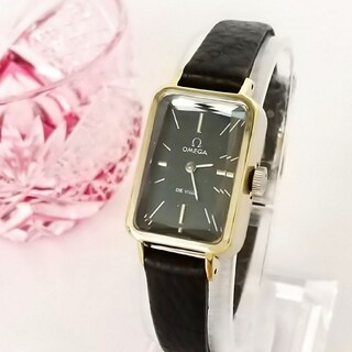 OMEGA - ⭐OH済 綺麗 オメガ 新品レザー ネイビー レディース 腕時計 着物 ギリ美品
